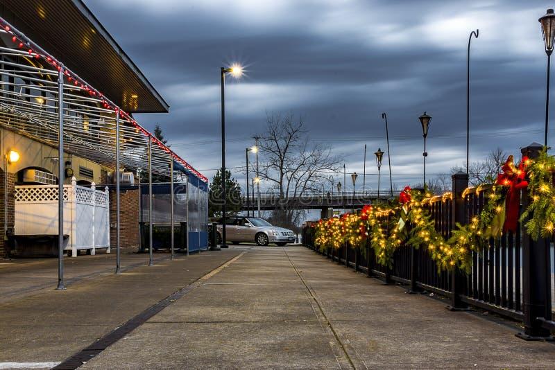 Utica Historyczny Marina w Utica Nowy Jork, Upstate, usa (Aqua Vino) zdjęcie royalty free