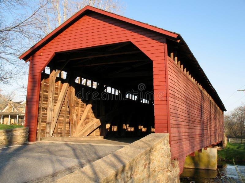 Utica Mills Red Bridge stock photography