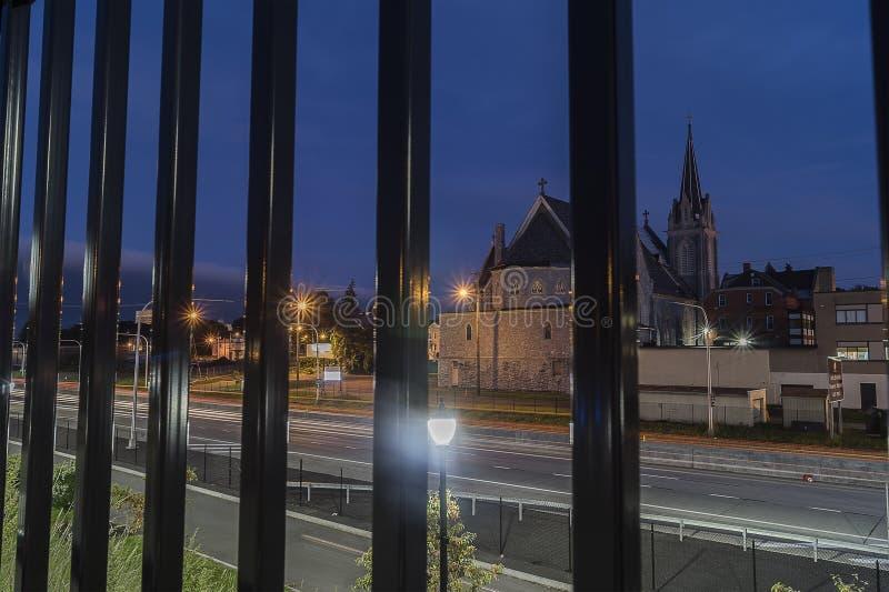 UTICA, NY, usa - OCT 03, 2018: Historia Świętej trójcy kościół rzymsko-katolicki w Utica, Nowy Jork zaczyna 102 roku w Octob temu obrazy stock