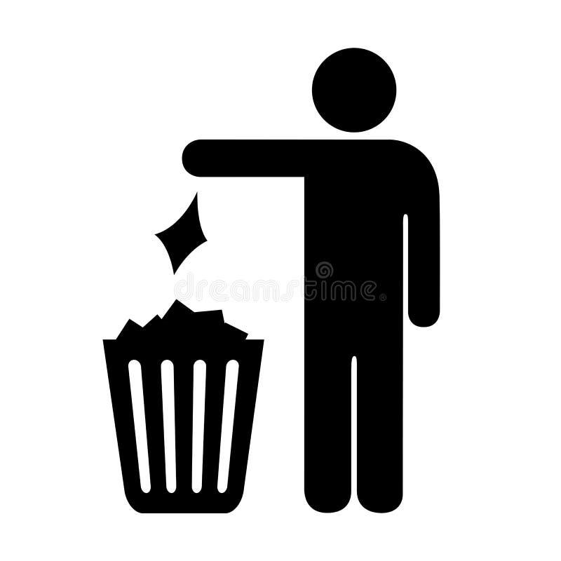 Utilice la muestra del vector del bote de basura libre illustration