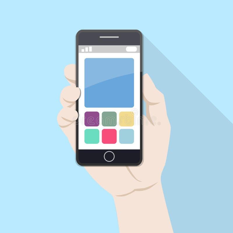 Utilisant le téléphone intelligent mobile image stock