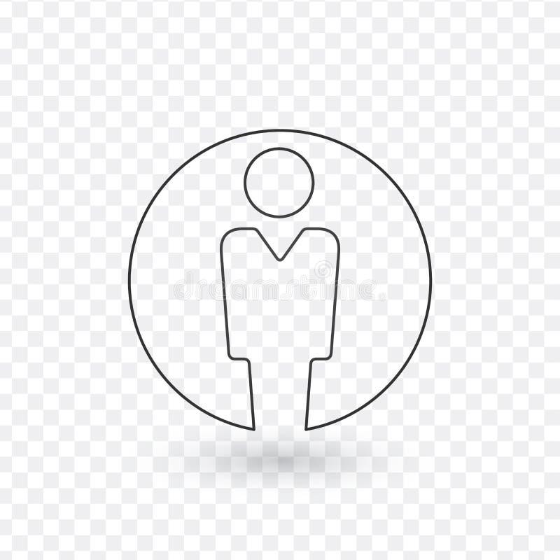 Utilisateur, icône linéaire Illustration de vecteur d'isolement sur le fond transparent illustration de vecteur