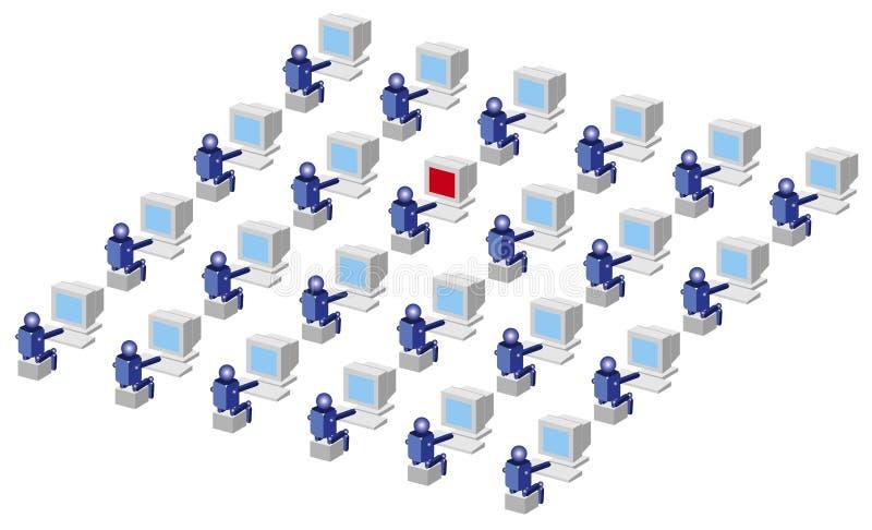 Utilisateurs d'ordinateur illustration de vecteur