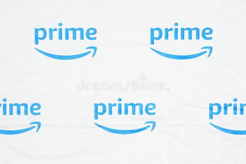 Utilisation éditoriale seulement Logo d'Amazon Premium photos stock