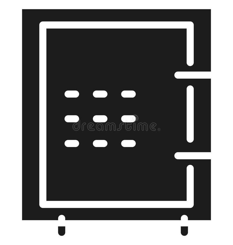 Utilisation d'isolement d'icône de vecteur de chambre forte de banque pour des projets de voyage et de visite illustration libre de droits