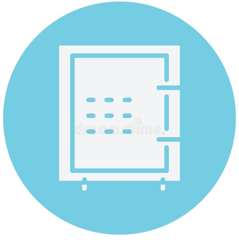 Utilisation d'isolement d'icône de vecteur de chambre forte de banque pour des projets de voyage et de visite illustration stock