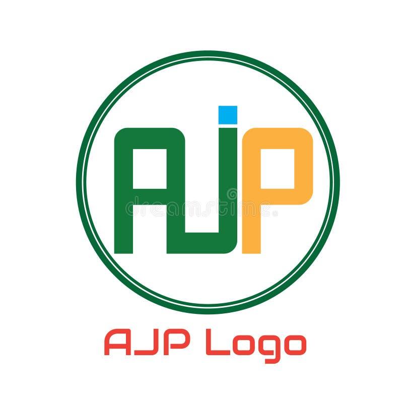 Utilisation de la conception AJP de logo de vecteur pour votre logo de lbusiness illustration libre de droits