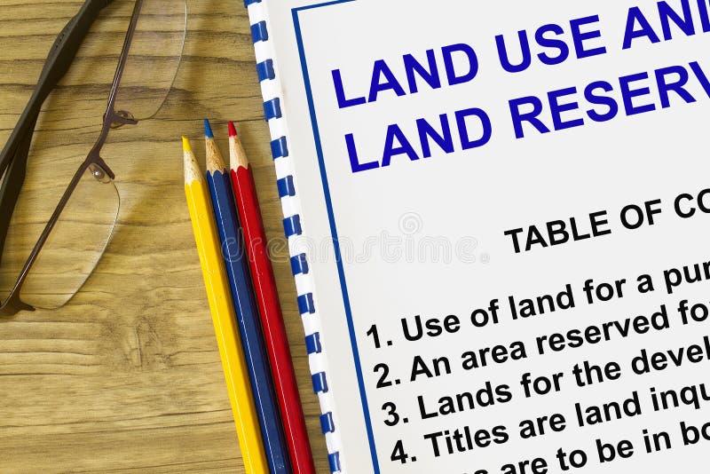 Utilisation des terres photo stock