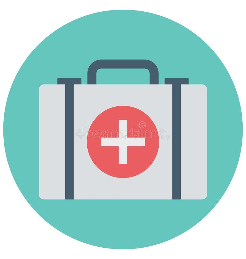 Utilisation editable d'icône de couleur d'illustration de premiers secours et spéciale facile d'isolement par vecteur pour des lo illustration stock
