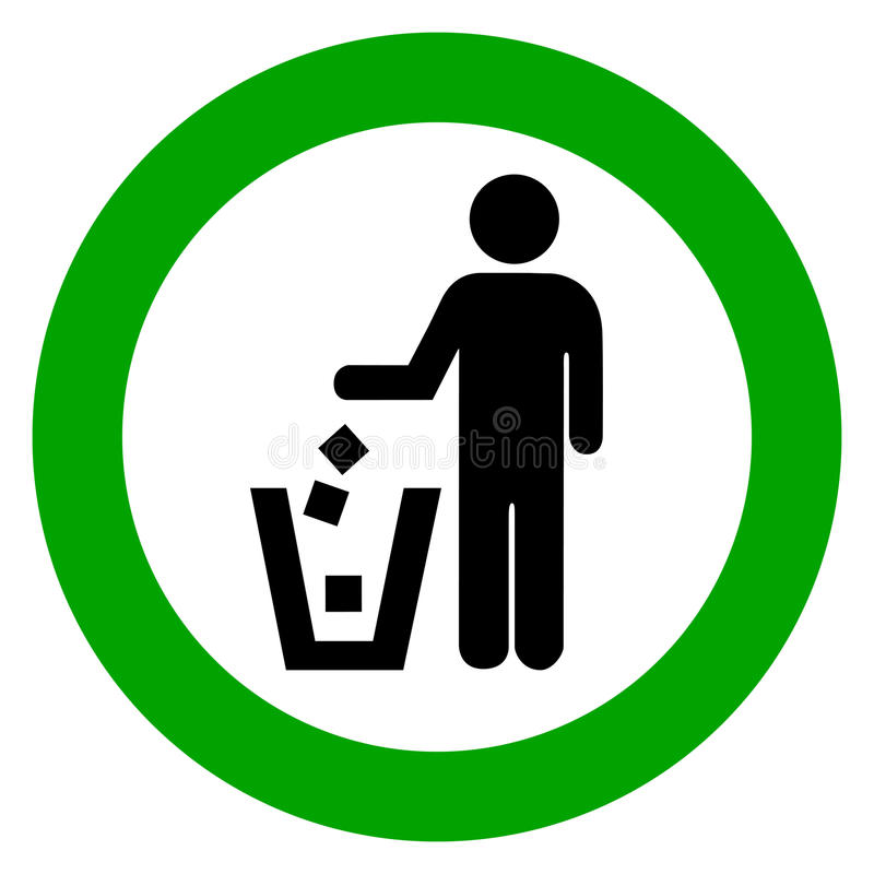 Utilisez la poubelle illustration libre de droits