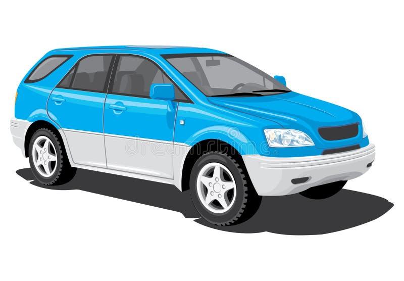 Utilitario deportivo azul stock de ilustración