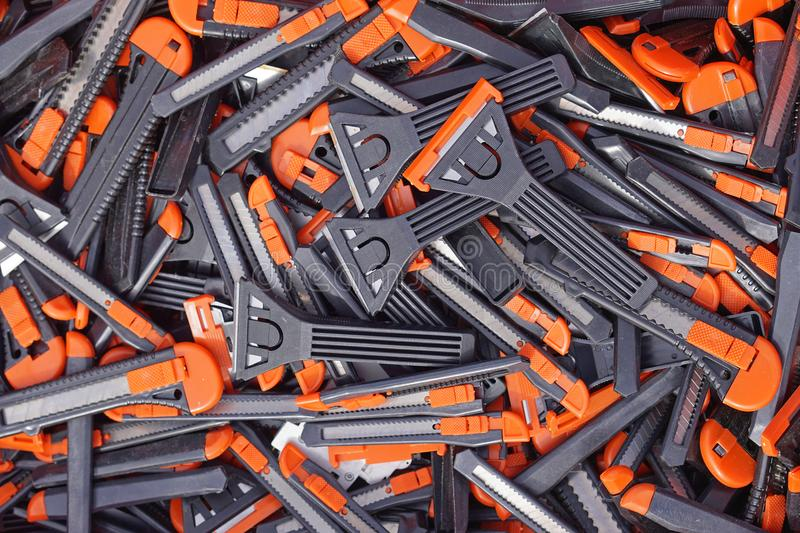 Utility knives royalty free stock image