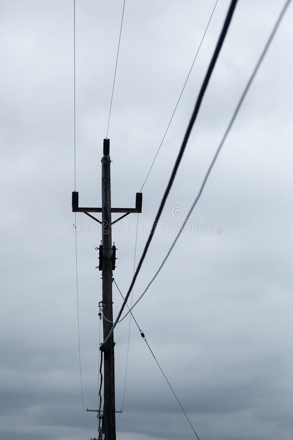 Utility Lines and Pool stock photo. Image of electric - 64991774