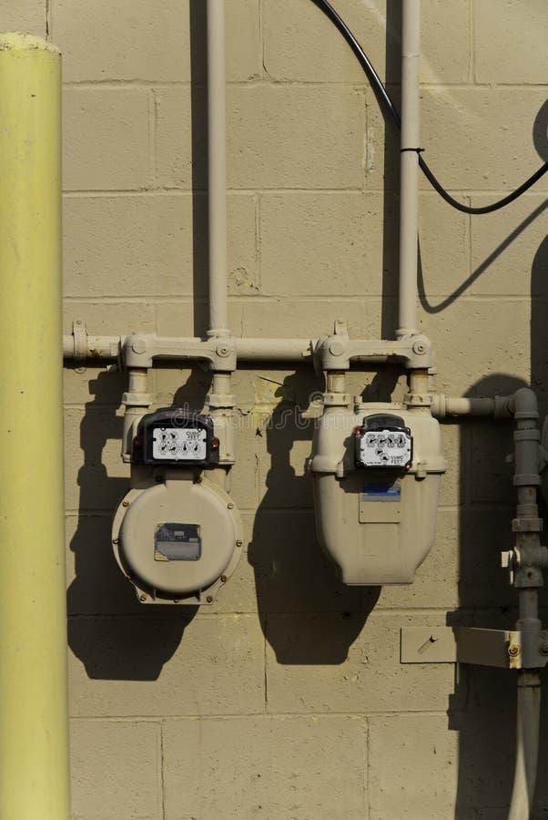 Utility Meters Stock Photo