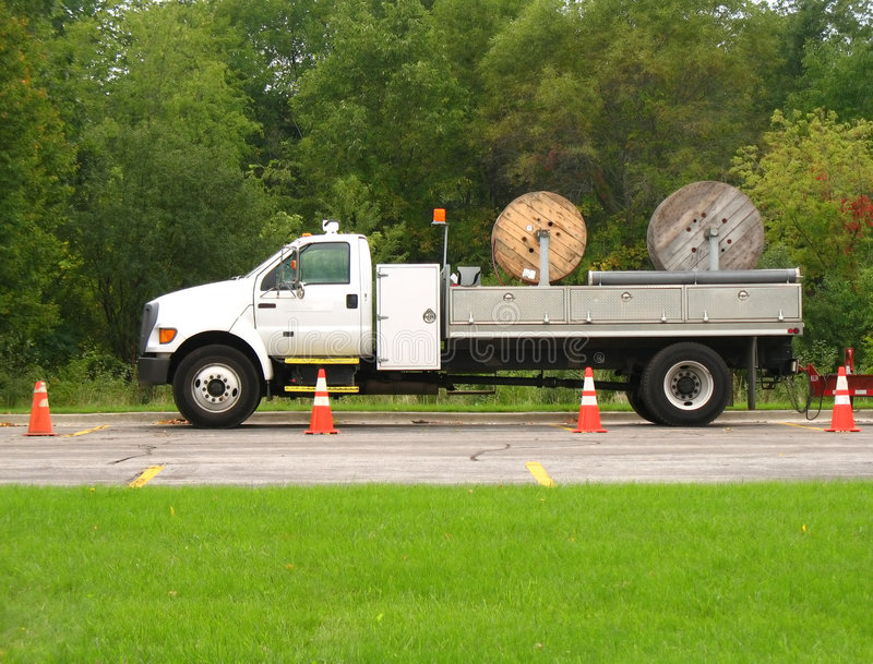 Download Utility truck stock photo. Image of truck, work, vehicle - 1247160