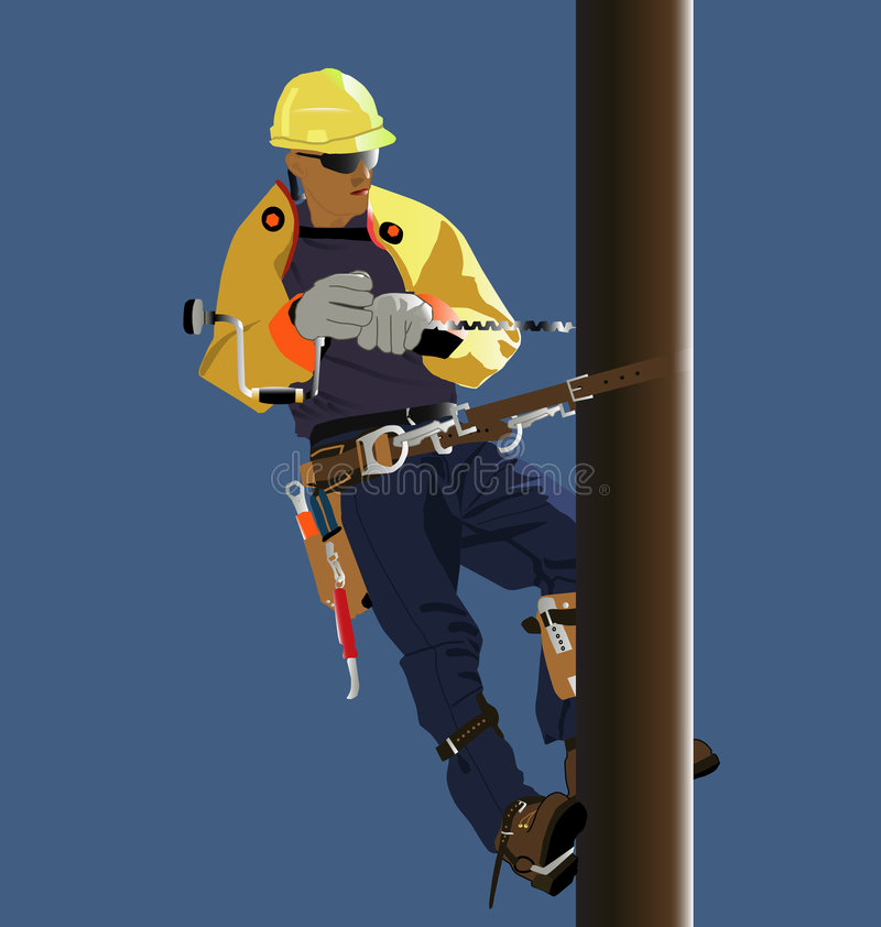 Utility worker stock illustration