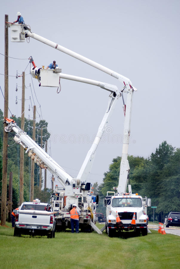 Utility Workers stock image