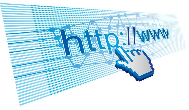 Utilização do Internet ilustração do vetor
