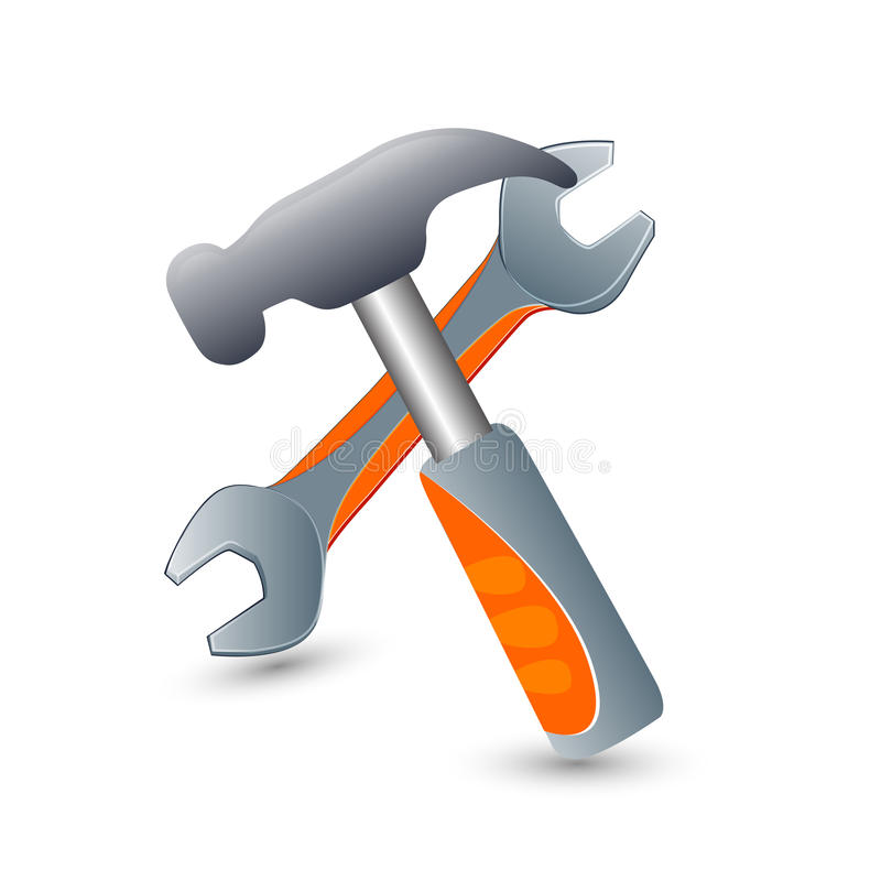 Utiliza ferramentas ícones ilustração stock