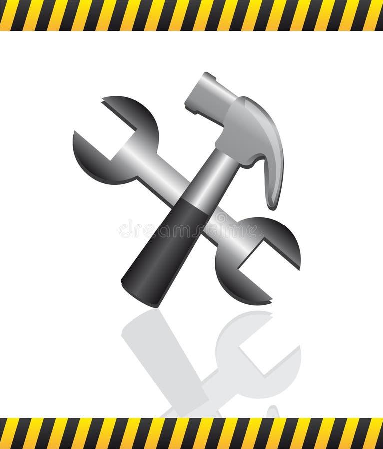 Utiliza ferramentas a construção ilustração stock