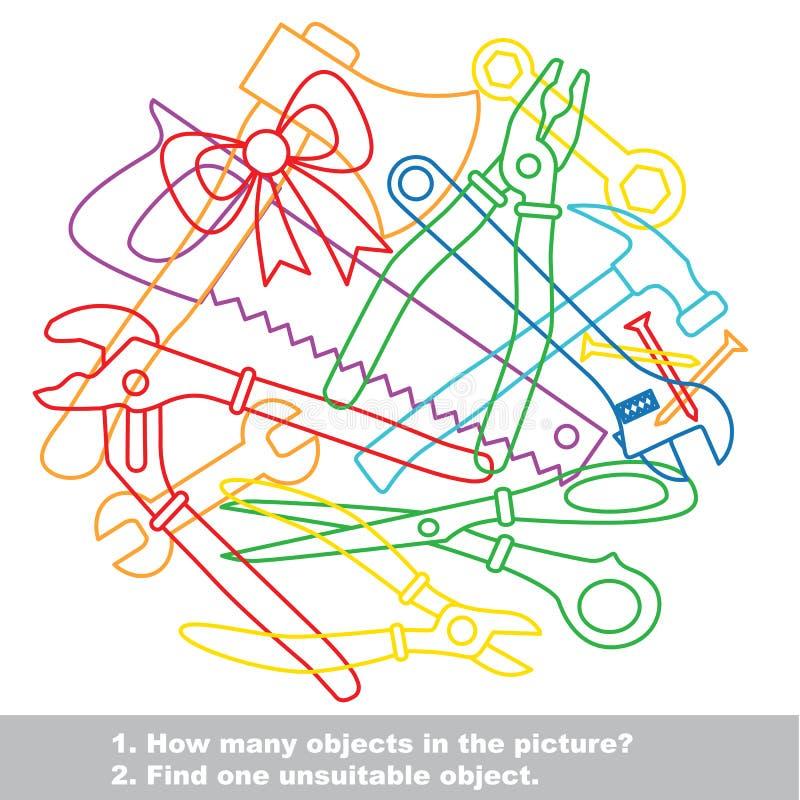 Utiliza ferramentas o grupo colorido da bagunça no vetor ilustração stock