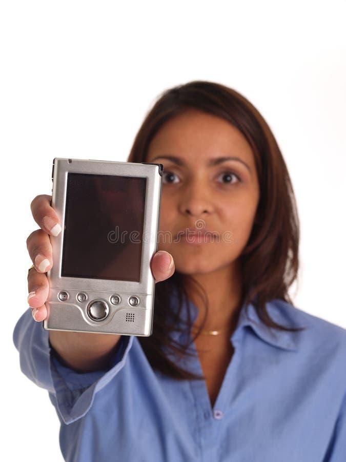 Utilizador de PDA imagenes de archivo