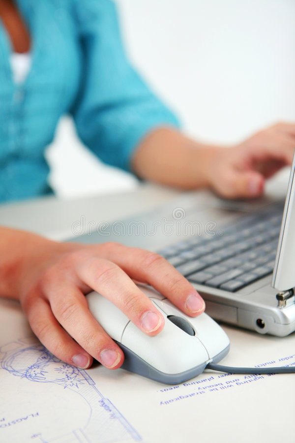 Utilizador del ordenador foto de archivo
