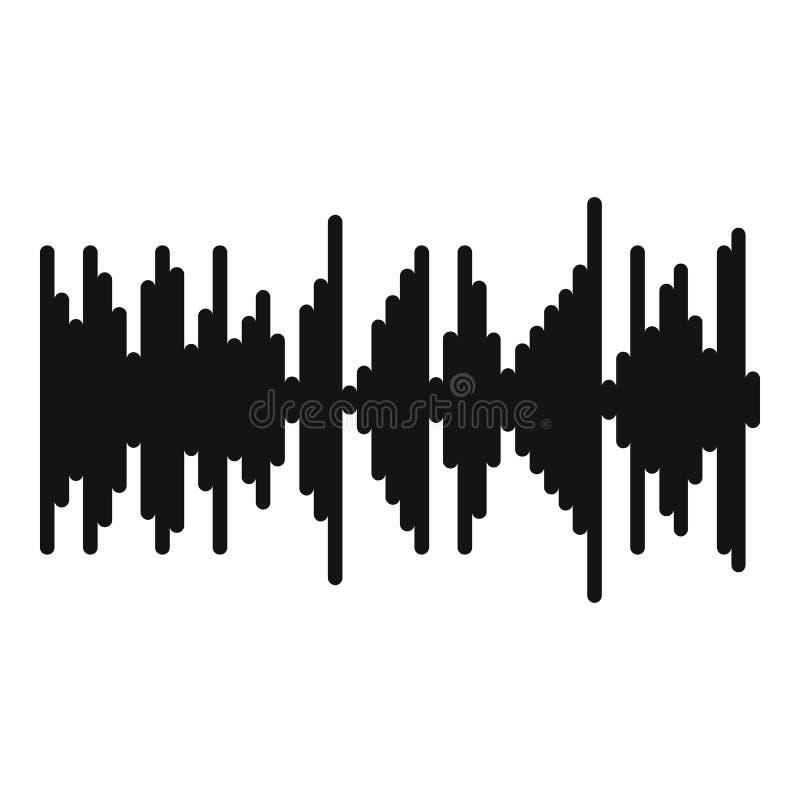 Utjämnarevibrationssymbol, enkel svart stil vektor illustrationer