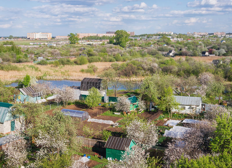 Utkant av den Ryazan staden Central Ryssland royaltyfri fotografi