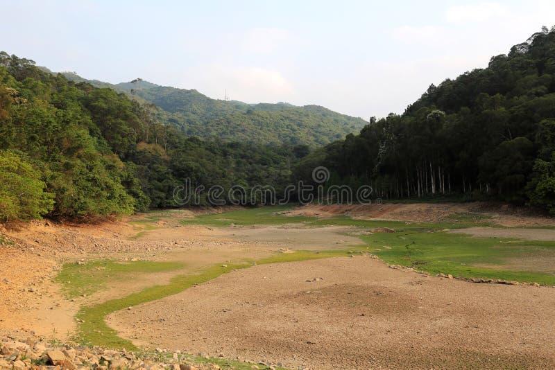 Utkast Lau Shui Heung Reservoir royaltyfri bild