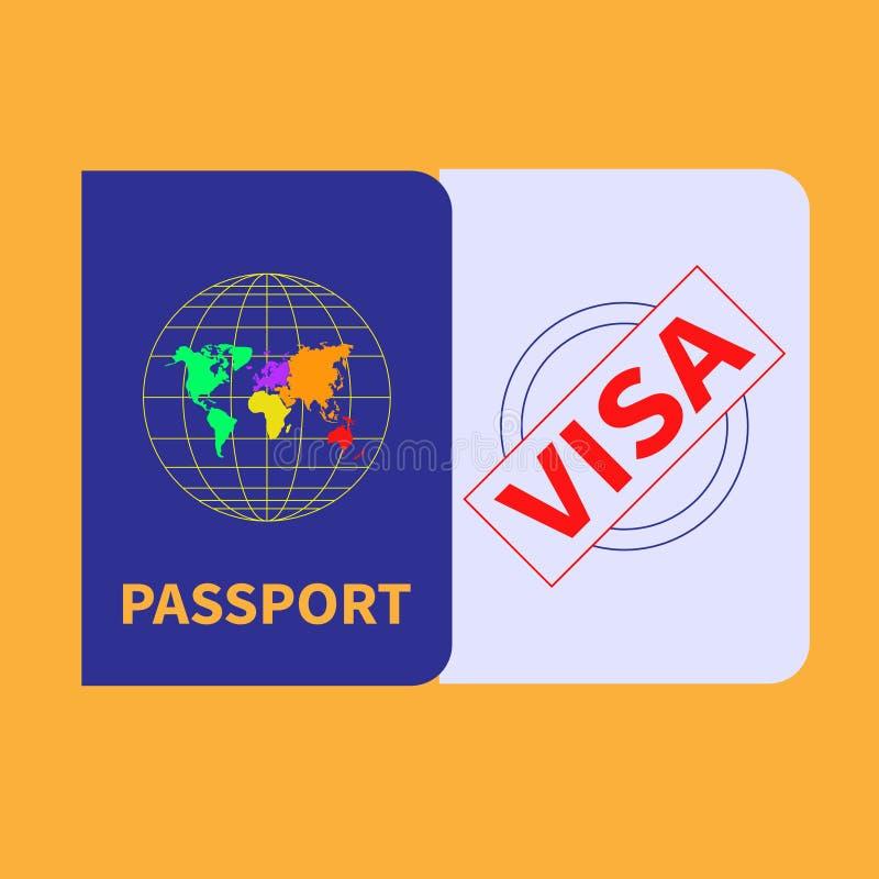 Utländsk pass- och visumstämpel Inom arkiv kan du finna mappar i sådana format: eps ai, cdr, jpg arkivfoto
