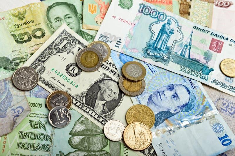 utländsk valuta royaltyfria foton