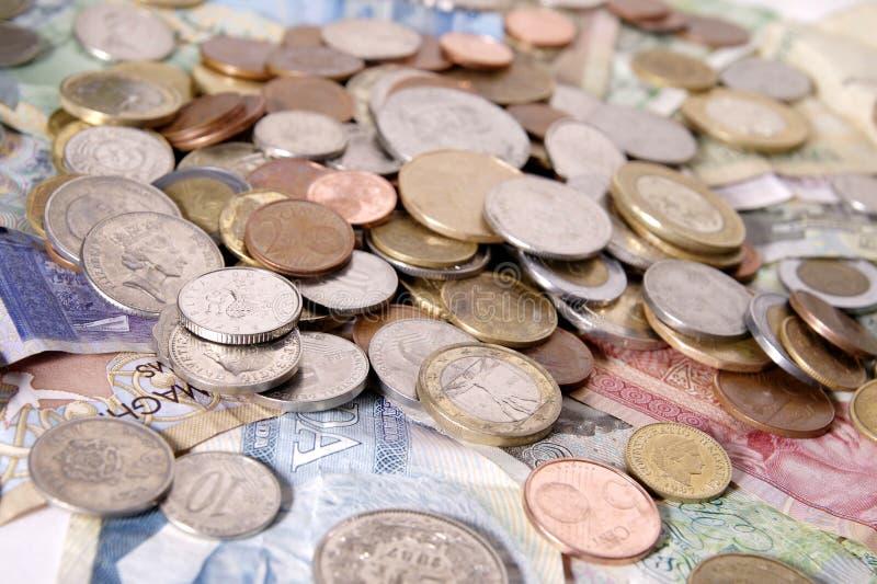 utländska pengar för sortiment arkivbild