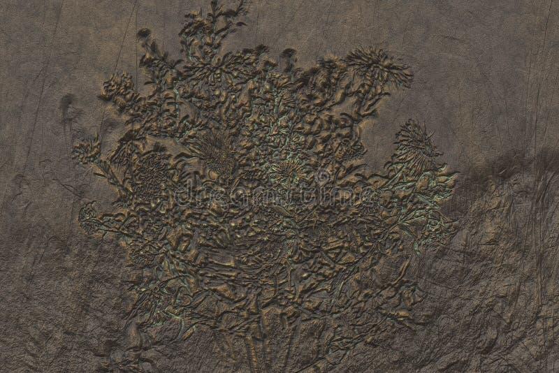 Utleniający miedziany talerz royalty ilustracja