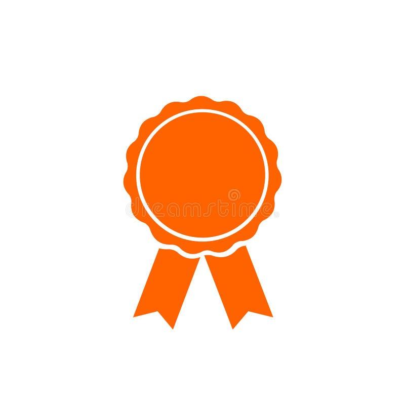 Utmärkelse gul medalj, vinnare, plan symbol för seger vektor illustrationer