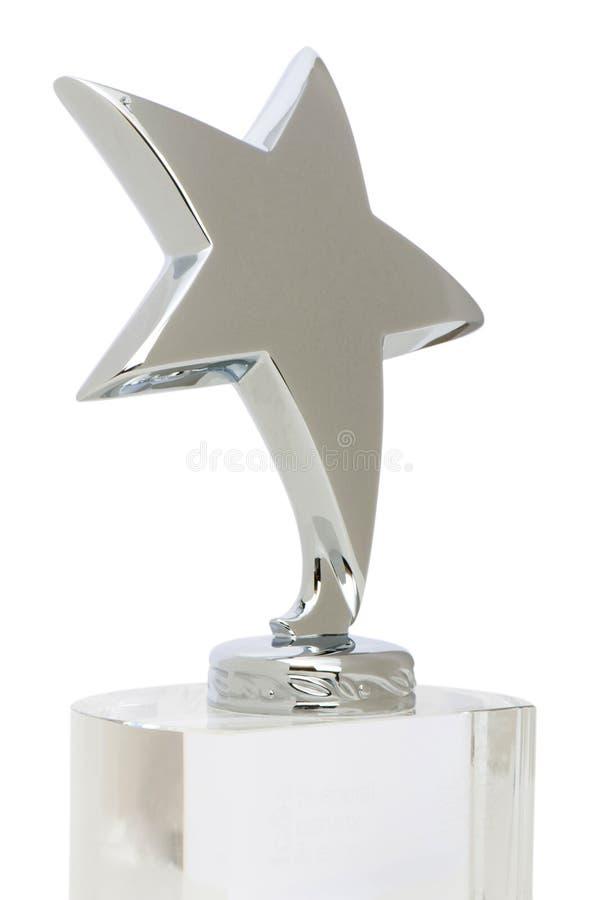 Utmärkelse Isolerad Stjärnawhite Royaltyfri Fotografi