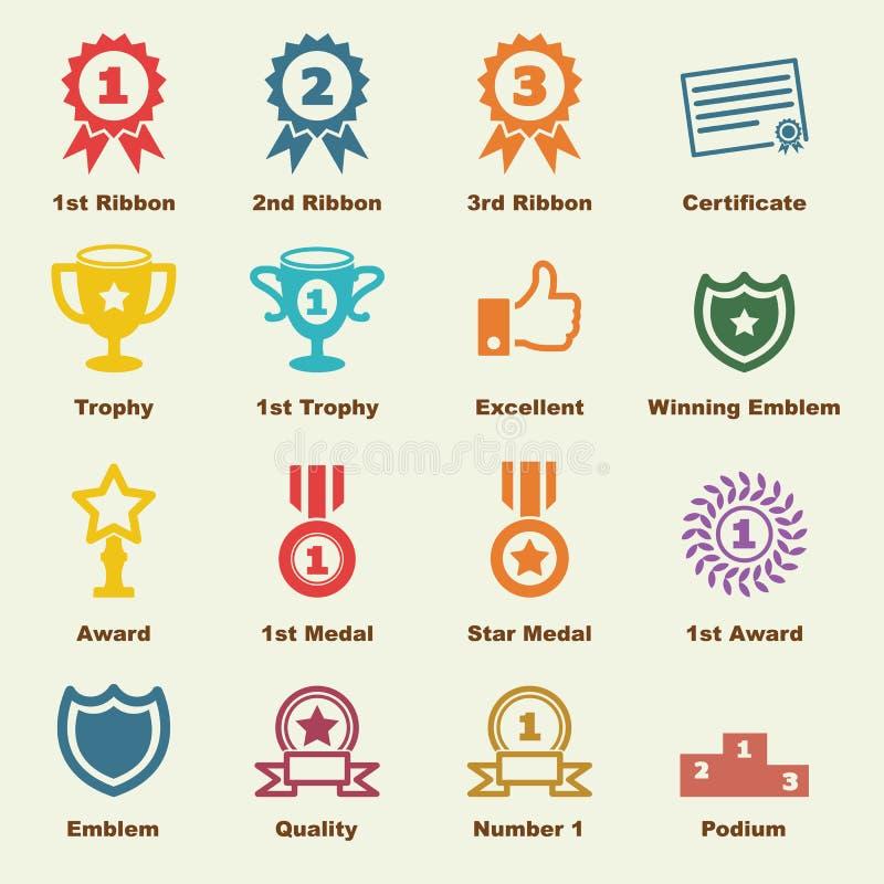 Utmärkelsebeståndsdelar royaltyfria bilder