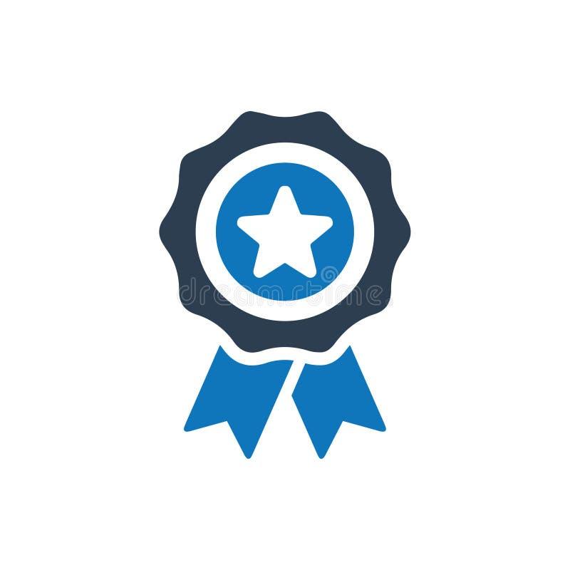 utmärkelseemblemsymbol royaltyfri illustrationer