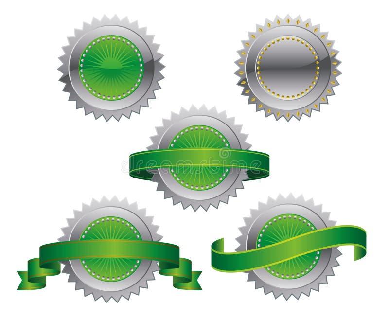 utmärkelsemedaljer vektor illustrationer