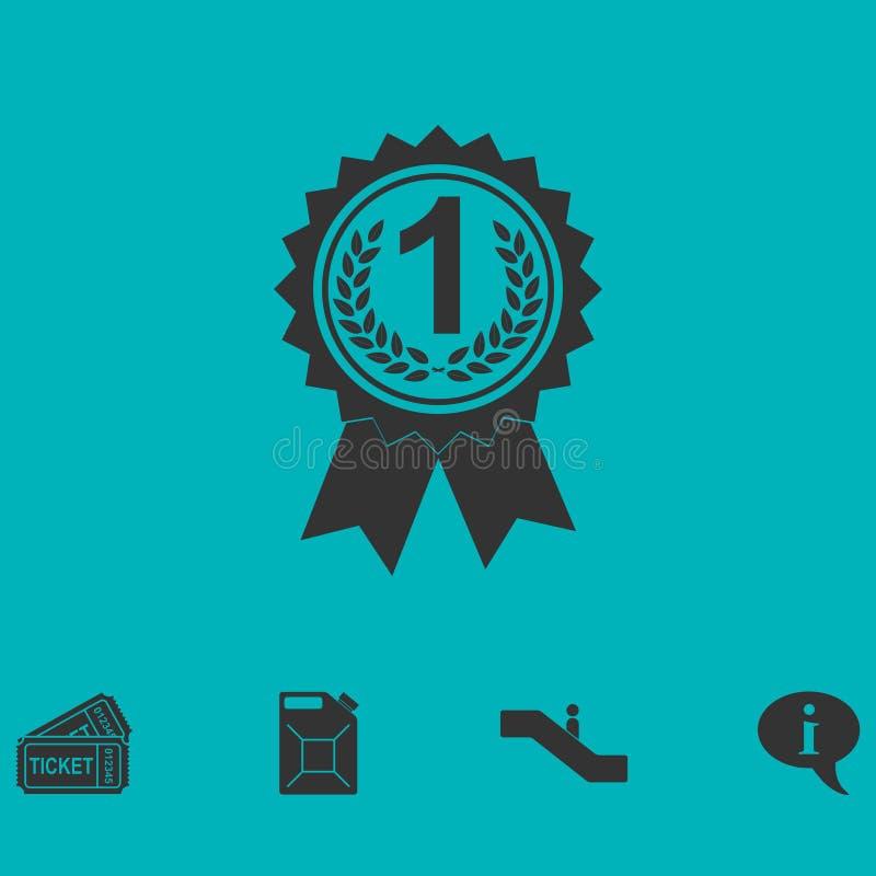 Utmärkelsemedaljsymbol framlänges royaltyfri illustrationer
