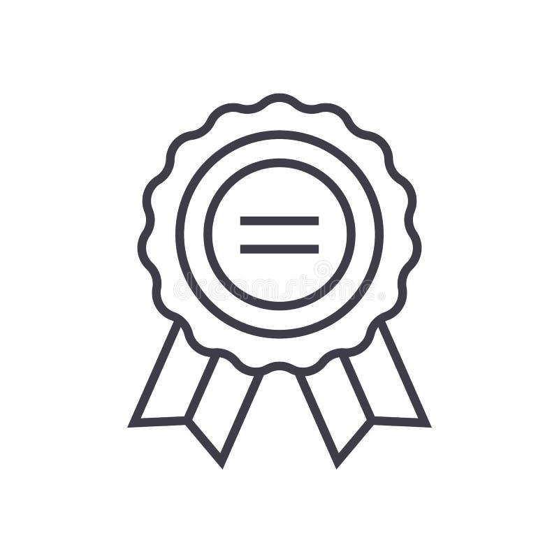 Utmärkelsevektorlinje symbol, tecken, illustration på bakgrund, redigerbara slaglängder vektor illustrationer