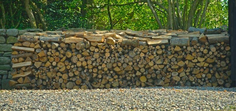 Utmärkt blandad hög av trä för vinter royaltyfri fotografi