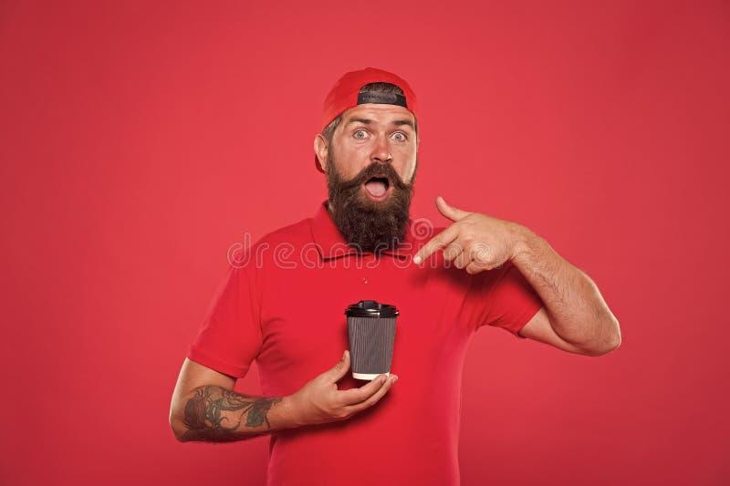 Utmärkt Innehåller koffein Specialkaffe, rostat Cafe barista-kopp Kaffe att gå Cafe grejer röda royaltyfria bilder
