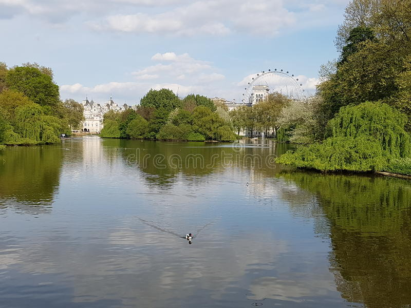 Utmärkt sikt för London öga arkivfoto