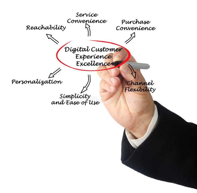 Utmärkthet för Digital kunderfarenhet arkivbilder