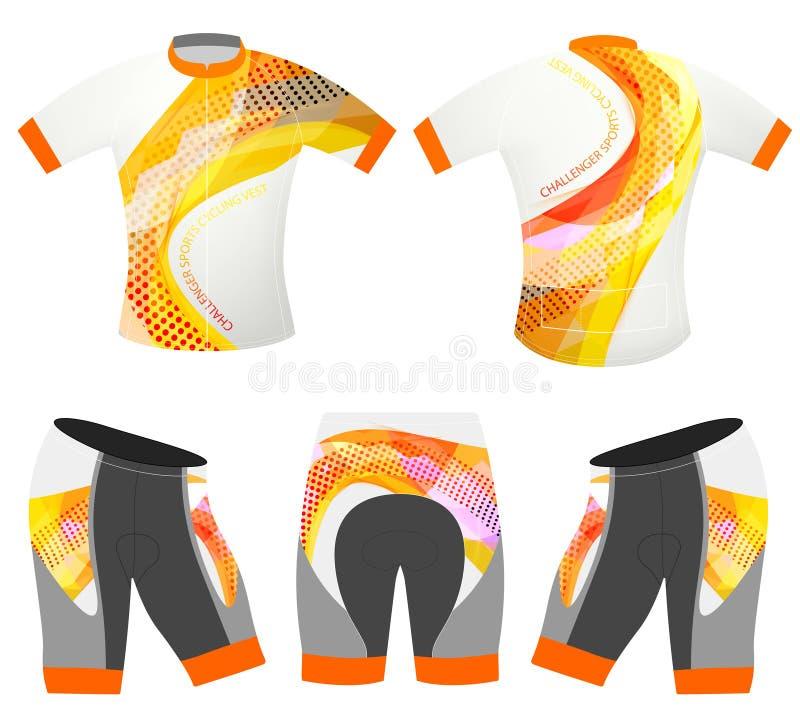 Utmanaresportt-skjorta design royaltyfri illustrationer