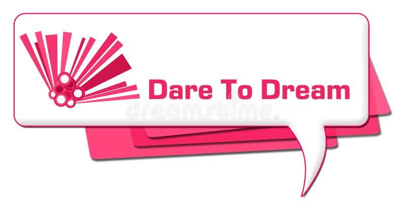 Utmaning att drömma rosa diagramkommentarsymbol stock illustrationer