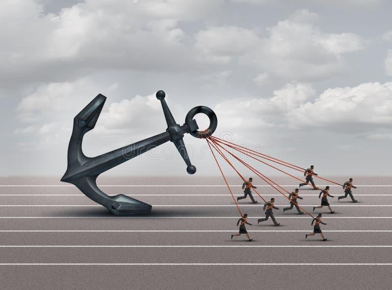 Utmaning för affärsgrupp stock illustrationer
