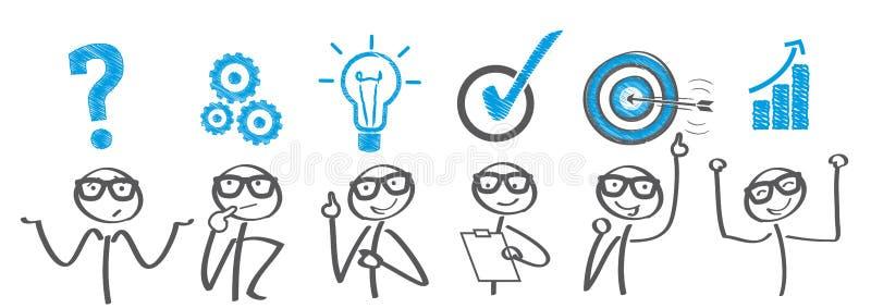 Utmaning - problemet löser stock illustrationer