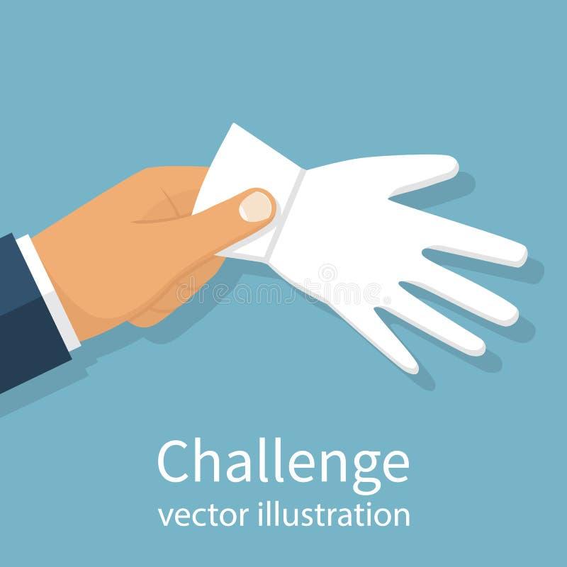 Utmaning till duellen vektor vektor illustrationer